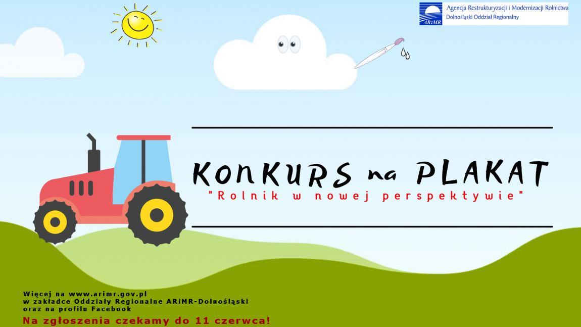 """Konkurs na Plakat """"Rolnik w nowej perspektywie"""""""