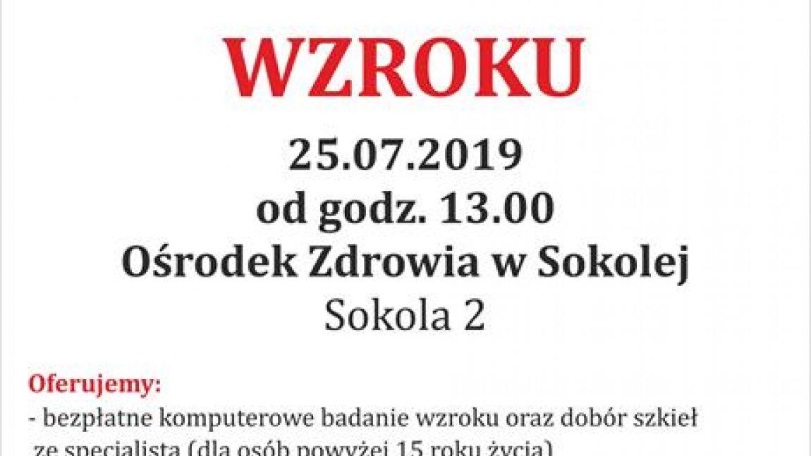 Bezpłatne badanie wzroku w Paszowicach i Sokolej