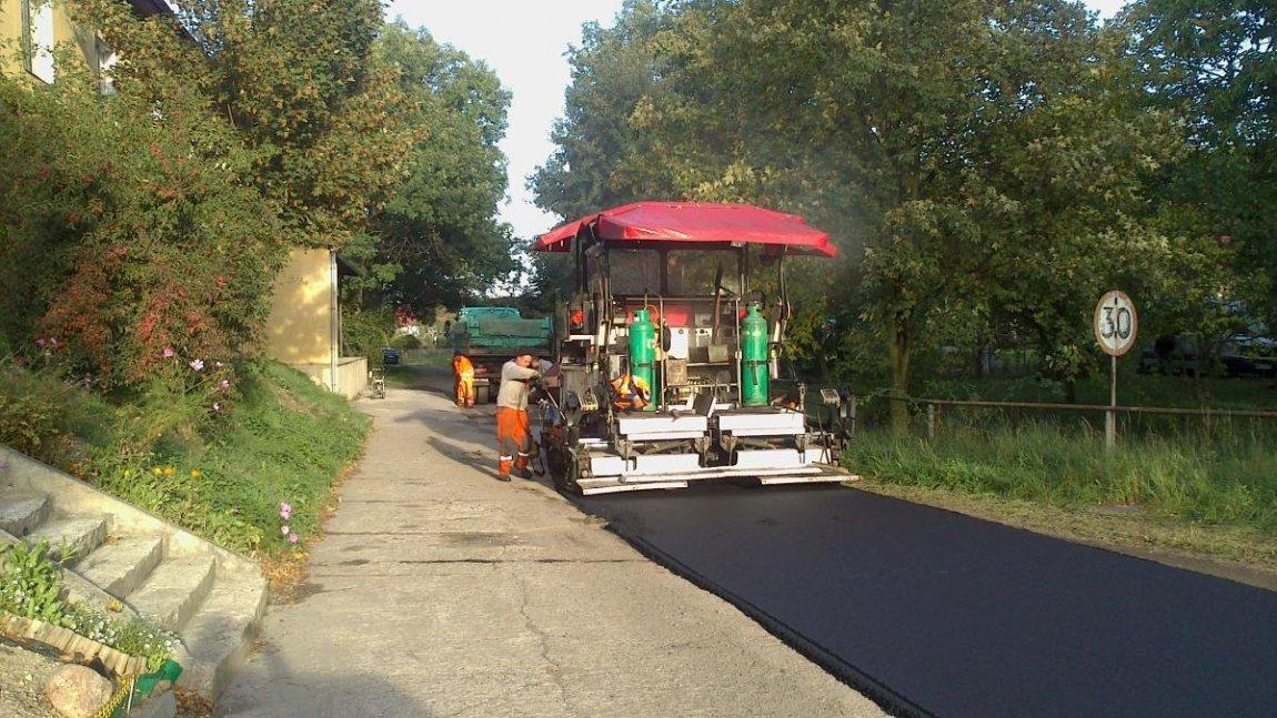 Remont drogi w Sokolej